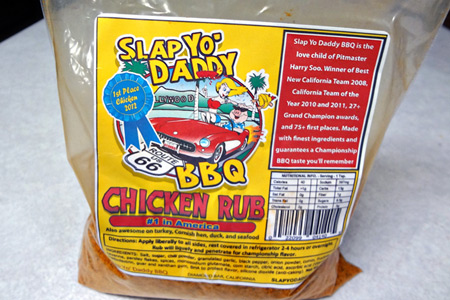 Slap Yo' Daddy BBQ Chicken Rub (via patiodaddiobbq.com)