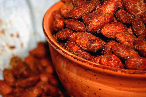 Sweet-n-Sassy BBQ Almonds