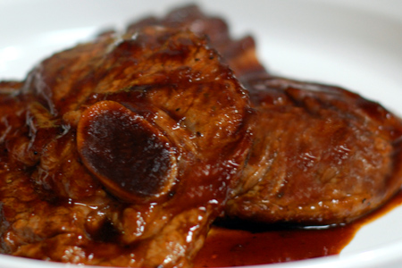 Broiled Lamb Chops with Guinness® BBQ Sauce
