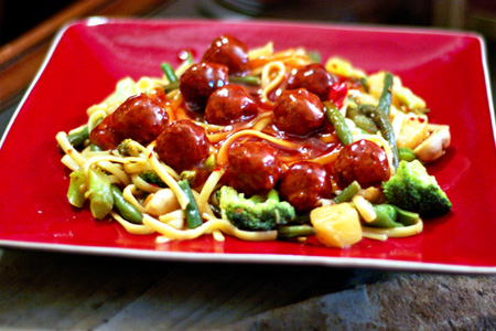Asian Spaghetti & Meatballs