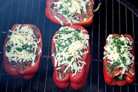 Stuffed Peppers On The Grill - Redux (via patiodaddiobbq.com)