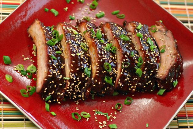 Japanese-Style Barbecued Baby Back Ribs Recipe — Dishmaps