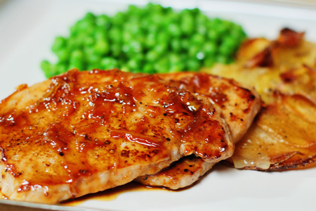 Orange-Glazed Pork Cutlets