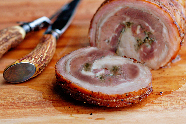 how to cook a porchetta on the grill
