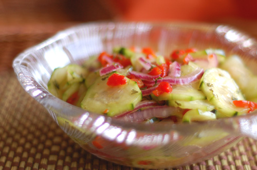 Cucumber & Red Onion Salad