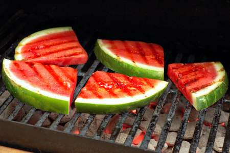 Grilled Watermelon & Fennel Salad with Charred Lemon Vinaigrette