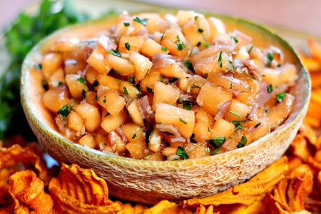 Cantaloupe & Prosciutto Salsa Cruda