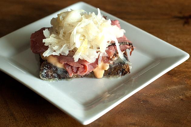 Mini Reuben Sandwiches (via patiodaddiobbq.com)