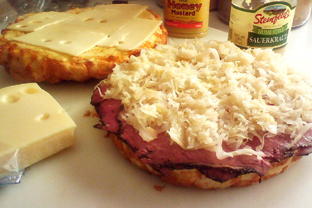 Cheesy Pastrami Reuben