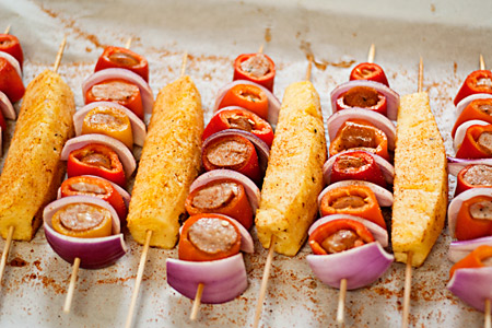 Sausage-Stuffed Pepper Kabobs