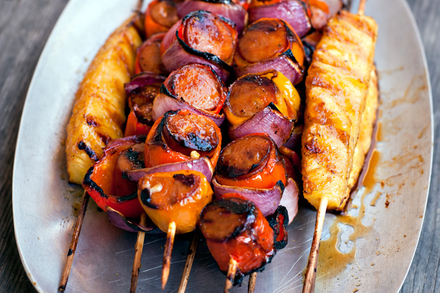 Skewers Of Sage Chicken With Sweet Italian Sausage Recipe ...