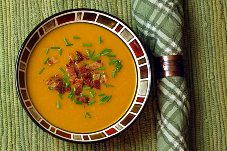 Butternut-Ale Soup (via patiodaddiobbq.com)