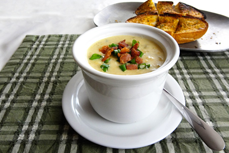 Corn Chowder (via patiodaddiobbq.com)