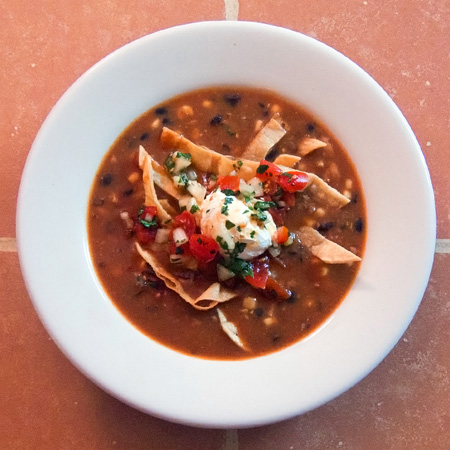 Spicy Grilled Chicken Tortilla Soup