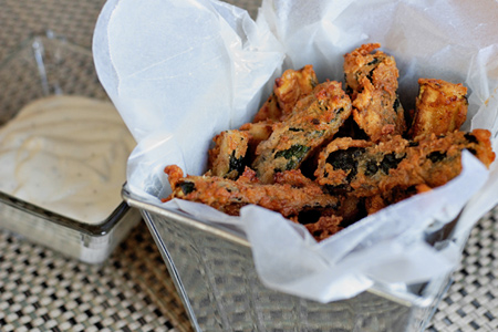 Ranch-ifried Zucchini (via patiodaddiobbq.com)