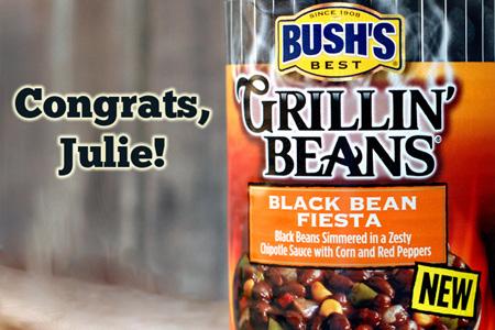Bush's Grillin' Beans Giveaway Winner